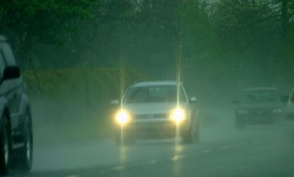 Heavy Rain And Road Spray Drive And Stay Alive