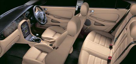 5: X-Type interior; photograph by Jaguar